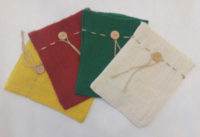 Jute gift pouches / bags - dyed