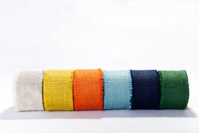 Jute decorative tapes - colorful (8 cm)
