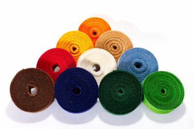 Jute decorative tapes - colorful (4 cm, 25m)
