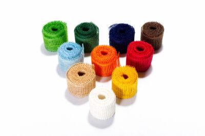 Jute decorative tapes - colorful (4 cm, 3 m)